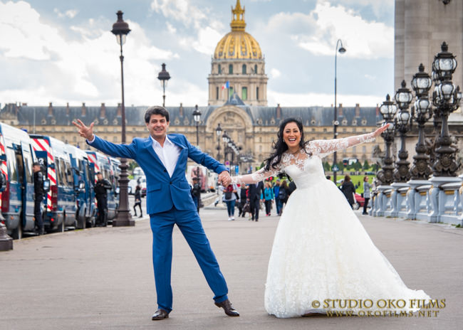 Photographe mariage Paris. Photos du couple.© Studio Oko Films