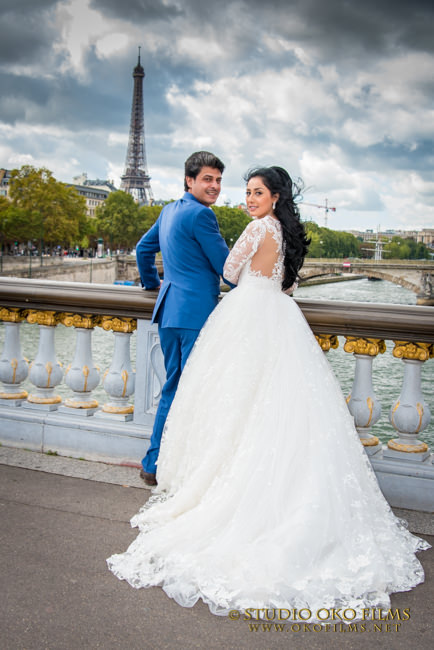 Reportage mariage Paris. Photos du couple.© Studio Oko Films